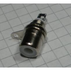 RCA phono cassis fatning Hvid