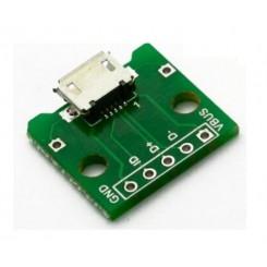MICRO USB female connector B type Print