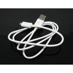 Micro USB data og lade kabel hvid