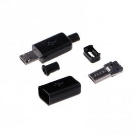 USB micro-b stik med hus