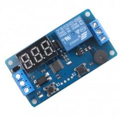 Delay timer  relæ-modul med display. Trigger indgang