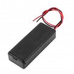 Batteribox 2 x aaa med låg og afbryder
