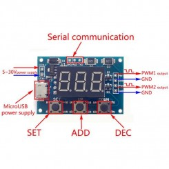 Adjustable  Duty Cycle Square Wave generator