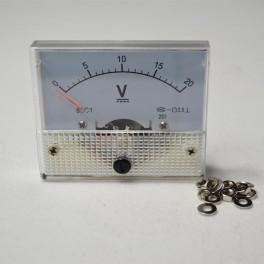 Analog Voltmeter  0-20v