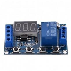 Delay timer  relæ-modul med display Version-2. Trigger indgang