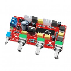 Forforstærker tonekontrol LM1036 DC styret  bas diskant volumen