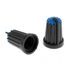 Knap for 6mm potentiometer blå-smal