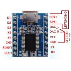 JQ6500 Mp3 tale/lyd modul