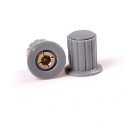Knap for 4mm potentiometer grå