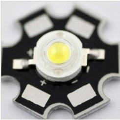 3W Pro-light lysdiode UV LED  ultraviolet, på køleplade