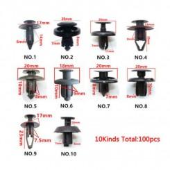 Auto clips sortiment 100 styk