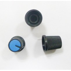 Knap for 6mm potentiometer blå