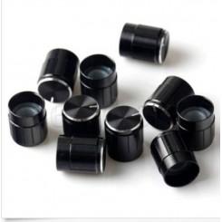 Knap for 6mm potentiometer sort